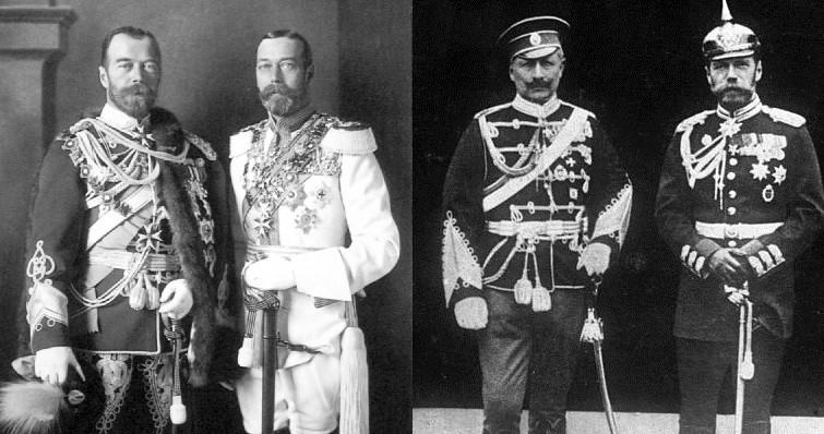 Двоюродные братья Николай 2 и Георг 5