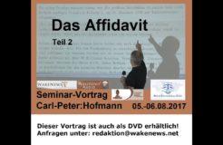Семинар Карл-Петер Хофманн: Аффидевит