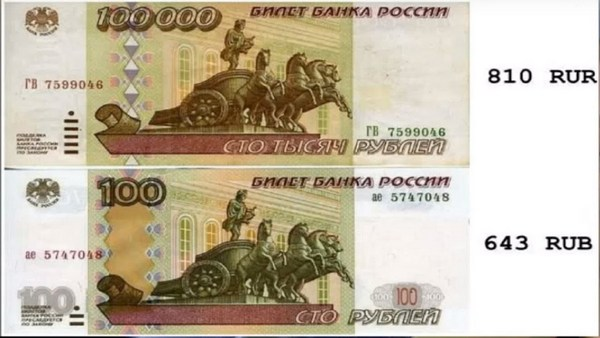 810 и 643 коды валют